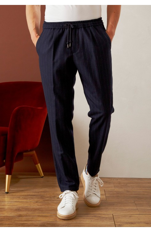 Man Pants in Virgin Wool...