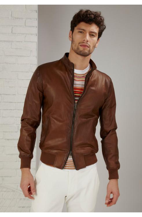 Man Bomber Leather FLIP...