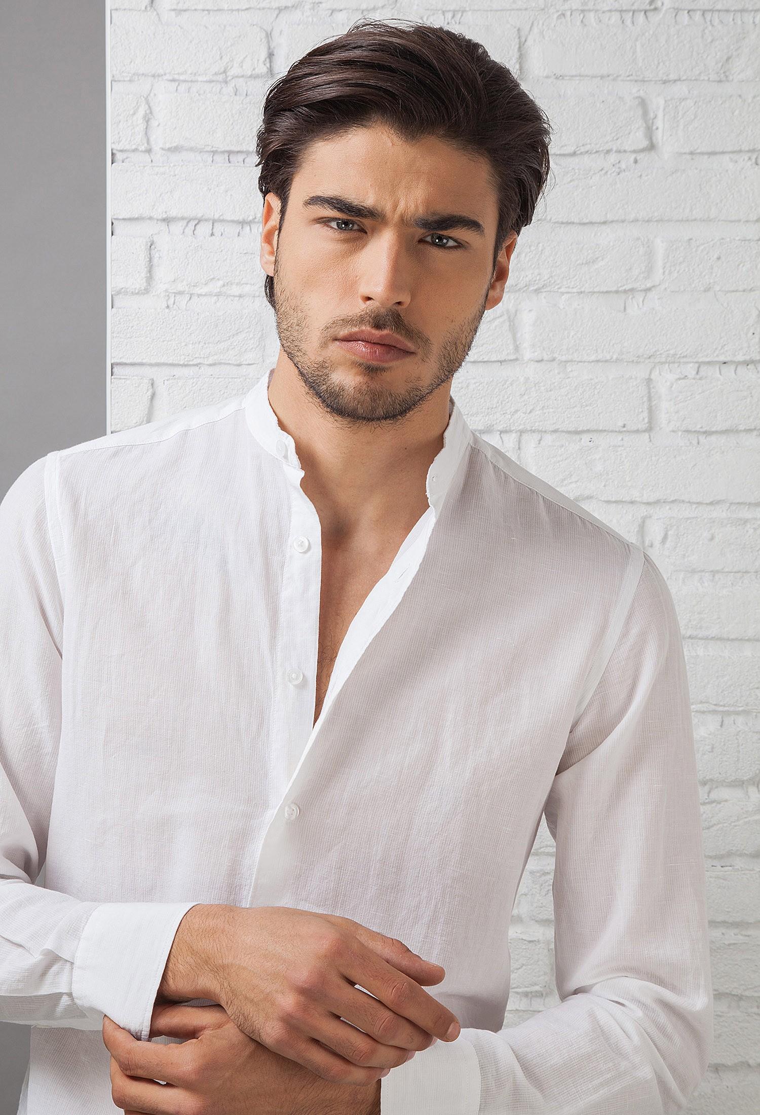 prezzi al dettaglio 50-70% di sconto colori e suggestivi Camicia Uomo in Cotone C657_CW Fradi - 81 - BIANCO