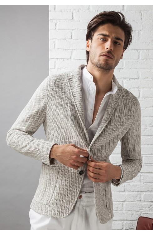Man Jacket in Cotton...